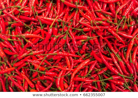Rood chili Indië bestanddeel verkoop markt Stockfoto © cookelma