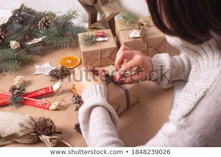 プレゼント ボックス 包装紙 休日 お祝い 挨拶 ストックフォト © robuart