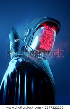 Titokzatos emberi futurisztikus űr modell technológia Stock fotó © solarseven