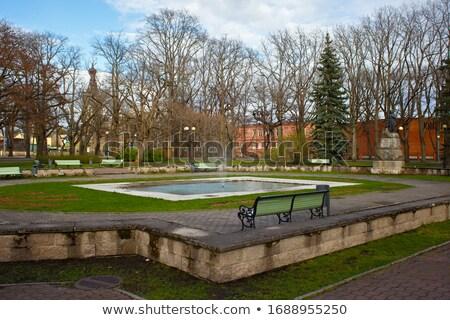Fonte parque Estônia cidade centro água Foto stock © borisb17