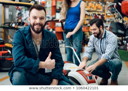 Hardver bolt ügyfél piac férfi férfiak Stock fotó © Lopolo