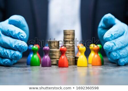 Pénz megtakarított pénz emberi koronavírus gazdaság csattanás Stock fotó © AndreyPopov