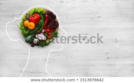 Agy diéta étel pszichológia pszichiátria egészséges étel Stock fotó © Lightsource