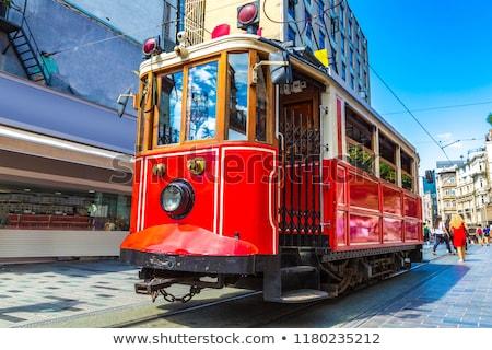 Retro tramvay İstanbul sokak Türkiye yaz Stok fotoğraf © bloodua