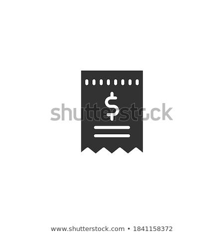 Wektora ikona odizolowany biały papieru Zdjęcia stock © smoki