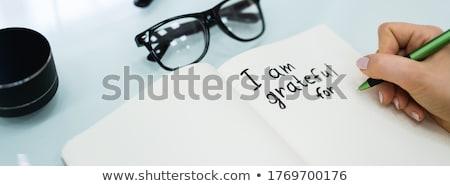Stock fotó: Gratitude Journal Concept Writing I Grateful