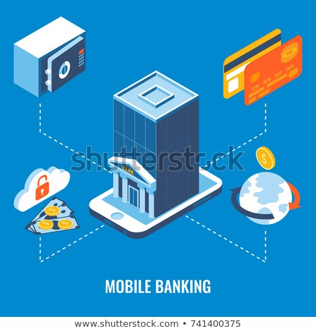 Electronic Safe Deposit isometric icon vector illustration Stock photo © pikepicture