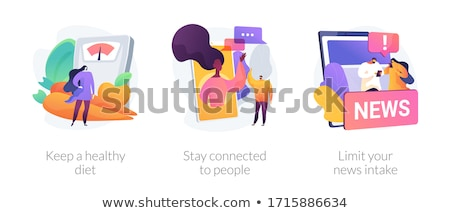 Limit your news intake abstract concept vector illustration. Stock photo © RAStudio