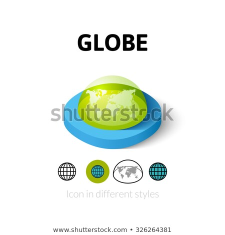 Continent isometric icon vector illustration Stock photo © pikepicture