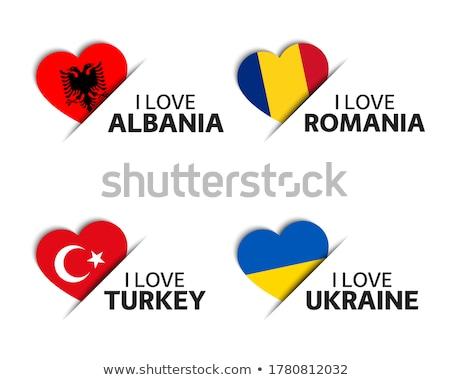 Szett négy román török szív alakú Stock fotó © kurkalukas