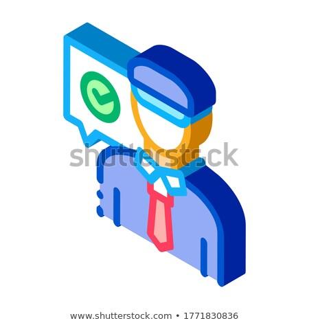 Polizist zugreifen Symbol Vektor Zeichen Stock foto © pikepicture