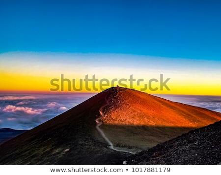 Hawaii · frumos · apus · top · uita · mare - imagine de stoc © photoblueice