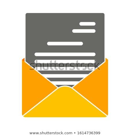 Envelop teken diode display witte licht Stockfoto © Darkves