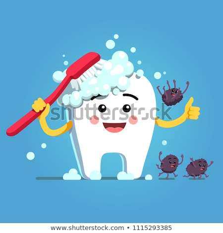 Dents brosse illustration hérisser sourire Photo stock © vectomart