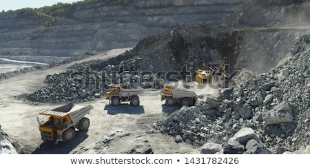Stone quarry of limestone Stock photo © deyangeorgiev