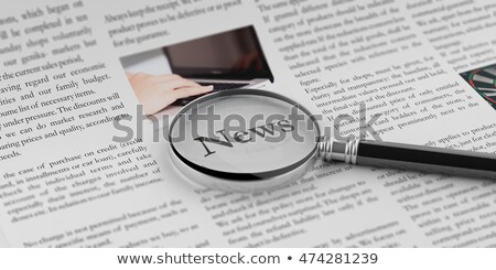 Magnifying Glass - News Stock photo © kbuntu