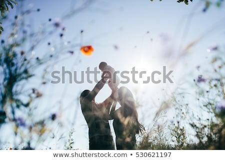 матери · ребенка · отец · природы · трава · красоту - Сток-фото © Paha_L