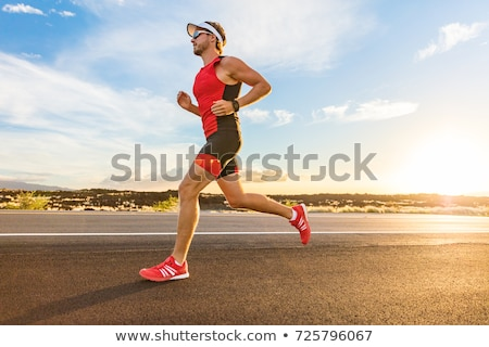 Runner running for Marathon Stock photo © Maridav