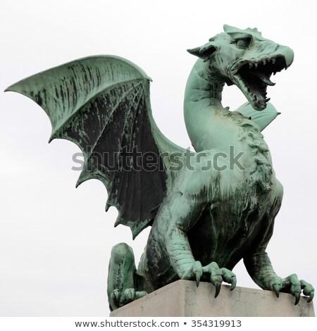 tradicional · dragão · chinês · escultura · céu · chinês · dragão - foto stock © smithore