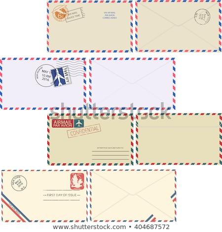 Vintage  Airmail Envelope Stock photo © 3mc