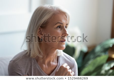 Sad Woman in Contemplative Mood Stock photo © rognar
