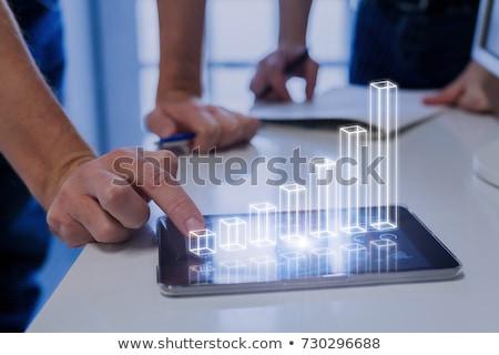 Stock fotó: Business Chart Showing Success