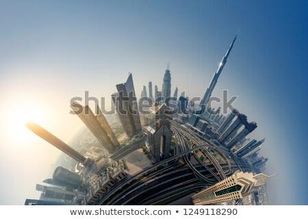 Világ város út illusztráció üzlet égbolt Stock fotó © pkdinkar