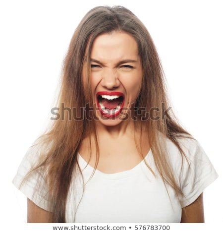 Attractive young woman screaming out loud stock photo © williv