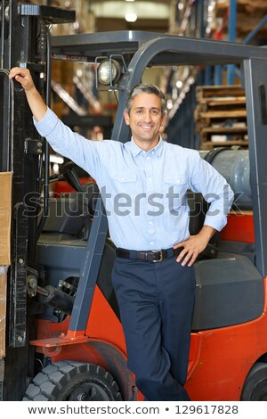 man delivering pallet Stock photo © photography33