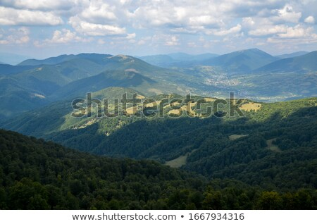 carpathian mountains in ukraine and hiking stock photo © arsgera
