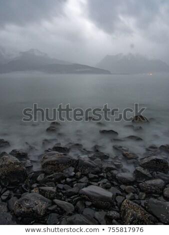 The mountainous shores of Resurrection Bay in Alaska. Stock photo © Klodien