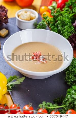 омаров кремом суп чаши лимона блюдо Сток-фото © joker
