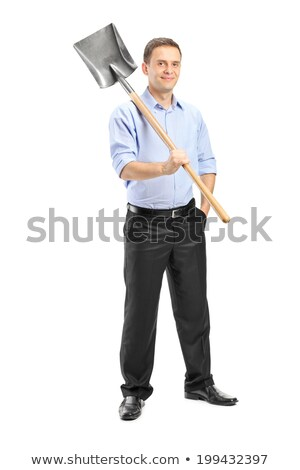 Man holding spade over shoulder Stock photo © photography33