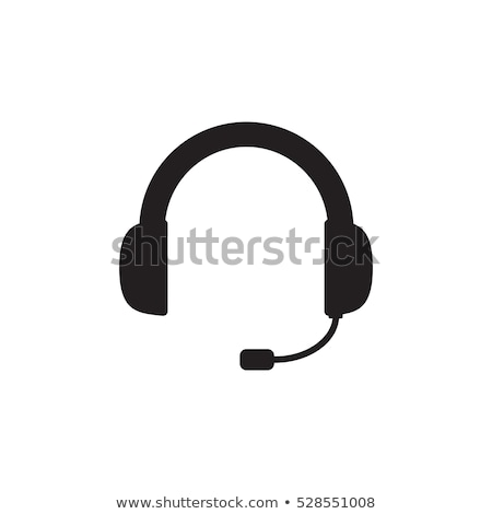 headset icon Stock photo © oblachko