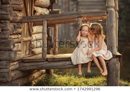 два мало лет саду играет Сток-фото © dashapetrenko