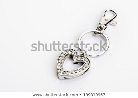 Szív alakú közelkép nő szeretet művészet Stock fotó © calvste
