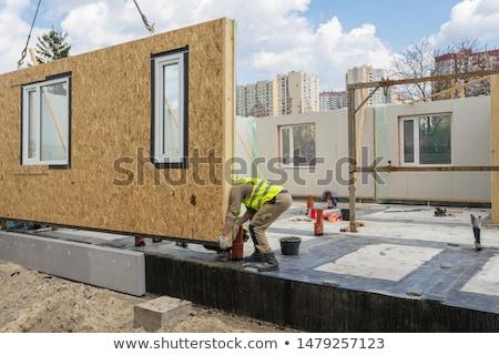 mozaiek · metselaar · werken · plaats · bouw · muur - stockfoto © photography33