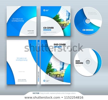 cd · affaires · couvrir · isolé · blanche · ordinateur - photo stock © ozaiachin
