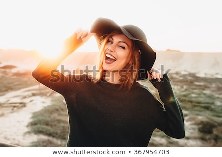 Сток-фото: красивая · женщина · пустыне · красивой · красный · женщину · ночь