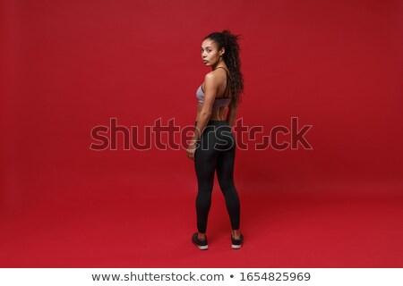 мышечный · девушки · соответствовать · женщину · спортивная · одежда - Сток-фото © nikitabuida