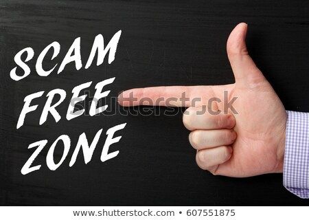 Scam free zone. Stock photo © 72soul