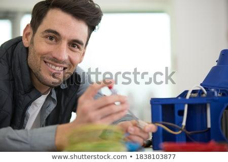 Kabel Hand isoliert weiß Business Frau Stock foto © Pakhnyushchyy