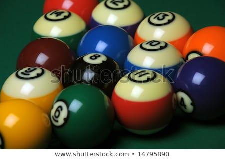 piscina · mesa · jugar · verde - foto stock © Sportlibrary
