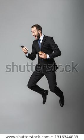 jóvenes · empresario · teléfono · negocios · oficina · feliz - foto stock © photography33