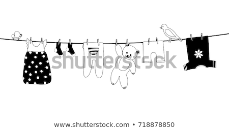 Baby on Laundry Line Stock photo © nailiaschwarz