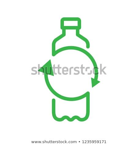 geri · dönüşüm · plastik · şişeler · genç · Asya · kadın - stok fotoğraf © photography33