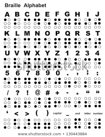 Stock photo: Braille alphabet with capital letters and numbers