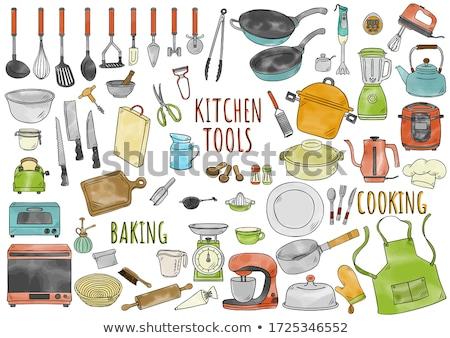 frigideira · panela · comida · cozinhar · elétrico · ferramenta - foto stock © m-studio