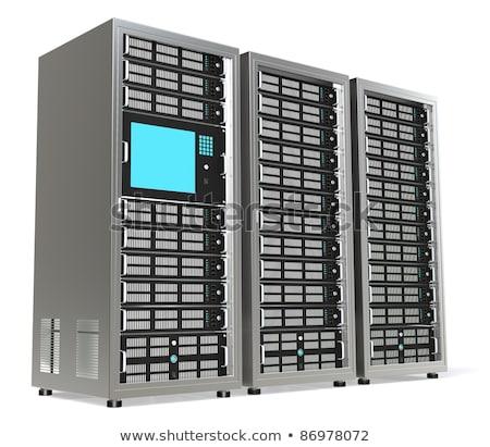Szerver rack szerver egy monitor technológia hálózat Stock fotó © JohanH