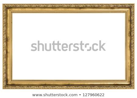 金箔 フレーム 絵画 白 古い 孤立した ストックフォト © pzaxe
